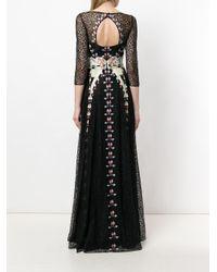 Temperley London Black Lumiere Maxi Dress
