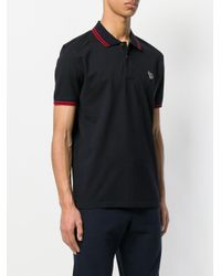 PS by Paul Smith - Blue Short Sleeve Polo Shirt for Men - Lyst