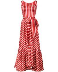 Silvia Tcherassi - Stripe Flared Midi Dress - Lyst
