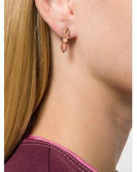 Niza Huang - Metallic Crushed Short Studded Earrings - Lyst