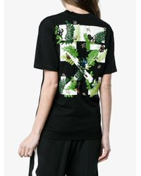 Off-White c/o Virgil Abloh - Black Fern Arrows Embroidered T Shirt - Lyst