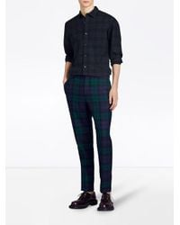 Burberry - Blue Check Tartan Shirt for Men - Lyst