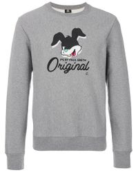 PS by Paul Smith | Gray Rabbit Print Sweatshirt for Men | Lyst