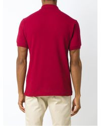 Lacoste - Red L121221476 Bordo Tradicional ??? Natural (vegetable)->cotton for Men - Lyst