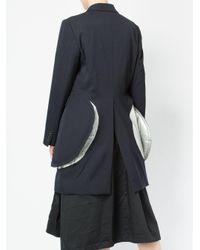 Comme des Garçons - Blue Blazer With Flare Details - Lyst
