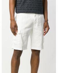 Entre Amis - White Cargo Shorts for Men - Lyst