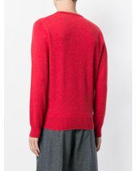 Eleventy - Red Round Neck Jumper for Men - Lyst