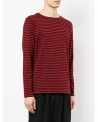 Attachment | Black Striped T-shirt for Men | Lyst