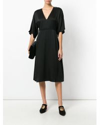 Theory - Black Kensington V-neck Dress - Lyst
