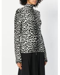Givenchy - Black Leopard Print Turtleneck Sweater - Lyst