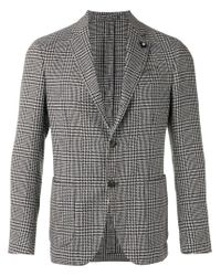 Lardini | Gray Houndstooth Pattern Blazer for Men | Lyst