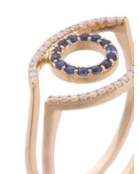 kWIT Jewelry - Metallic Anello 'evil Eye Sapphire' - Lyst