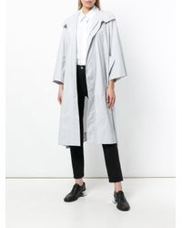 Issey Miyake - Gray Single Breasted Coat - Lyst