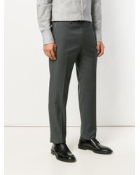 PT01 - Gray Tailored Trousers for Men - Lyst