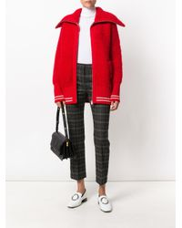 Miu Miu Red Zipped Cardigan