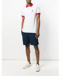 Gcds - White Contrast Collar Polo Shirt for Men - Lyst