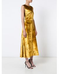 TOME - Yellow Flared Shift Dress - Lyst
