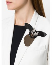 Marni - Black Embellished Animal Brooch - Lyst