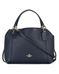 COACH - Blue Removable Strap Tote - Lyst