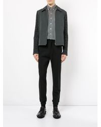 Education From Youngmachines - Gray Star Print Collared Shirt for Men - Lyst