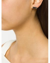 Akillis - Metallic Embellished Bullet Earrings - Lyst