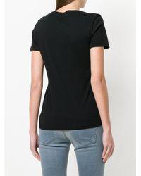 DIESEL - Black Textured Logo T-shirt - Lyst