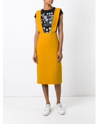 Each x Other - Yellow Suspender Skirt - Lyst