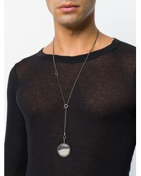 Ann Demeulemeester Blanche - Metallic Pearl Filled Pendant for Men - Lyst