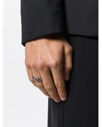 Alexander McQueen - Metallic Skeleton Ring for Men - Lyst