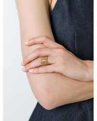 Gas Bijoux - Metallic 'wave' Ring - Lyst