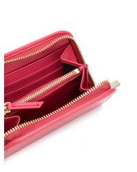 Lanvin - Red Small Zip Wallet - Lyst