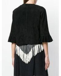 DROMe - Black Frill Sleeve Jacket - Lyst
