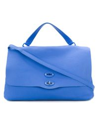 Zanellato - Blue Large Foldover Shoulder Bag - Lyst
