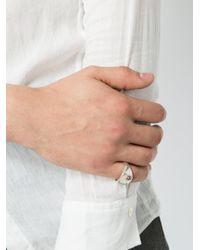 Henson - Metallic Signet Ring - Lyst