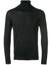 Eleventy | Black Turtleneck Jumper for Men | Lyst