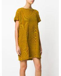 Issey Miyake Cauliflower - Yellow Textured T-shirt Dress - Lyst