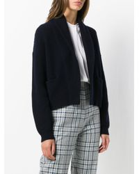 Vince - Blue Cropped Cardigan - Lyst