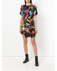DIESEL - Black Bead- And Sequin-embellished Mini Dress - Lyst