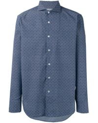 Canali - Blue Tile Print Slim-fit Shirt for Men - Lyst