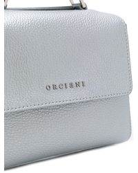 Orciani - Gray Logo Shoulder Bag - Lyst