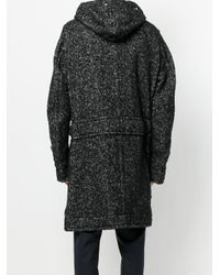 Sacai - Blue Oversized Hooded Coat for Men - Lyst