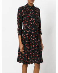 Chinti & Parker | Black Cherry Pleated Shirt Dress | Lyst