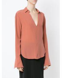 Osklen - Pink V-neck Shirt - Lyst