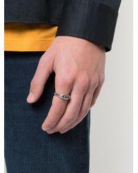 Henson - Metallic Triple Signet Ring for Men - Lyst