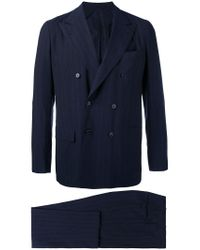 Kiton - Blue Two Piece Suit for Men - Lyst