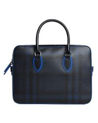 Burberry - Black London Check Briefcase - Lyst