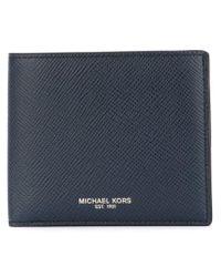 Michael Kors - Blue Billfold Wallet for Men - Lyst