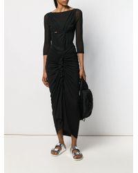 Rick Owens Lilies Black Draped Woven Skirt