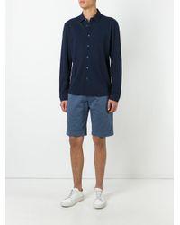 Sunspel | Blue Pique Shirt for Men | Lyst