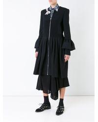 Preen By Thornton Bregazzi - Black Embellished Ruffled Shirt Dress - Lyst